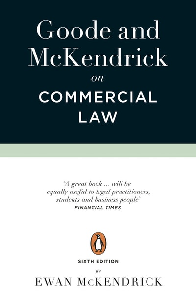 Goode and McKendrick on Commercial Law