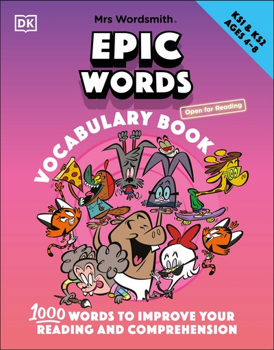 Mrs Wordsmith Epic Words Vocabulary Book, Ages 4-8 (Key Stages 1-2)