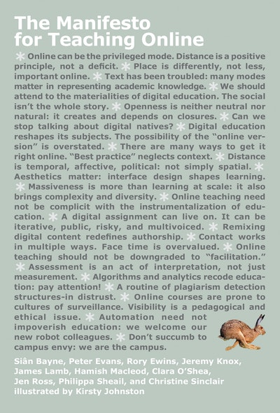 The Manifesto for Teaching Online