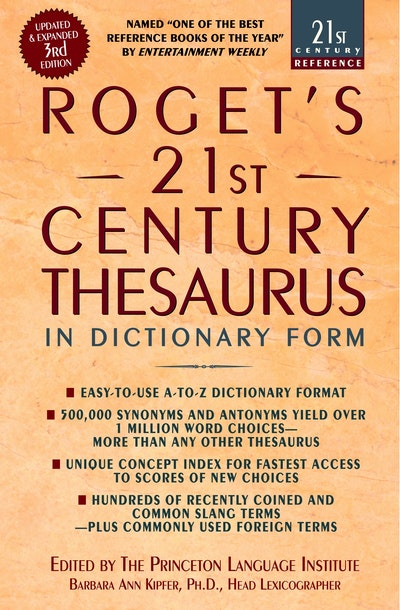 Roget's 21st Thesaurus 3rd Edition