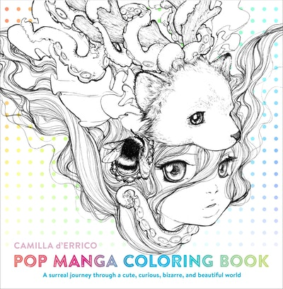 Hi Res Cover Pop Manga Coloring Book