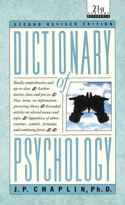 Dictionary Of Psychology By Jp Chaplin Penguin Books Australia
