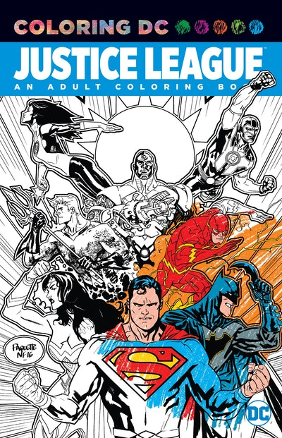 Hi Res Cover Justice League An Adult Coloring Book