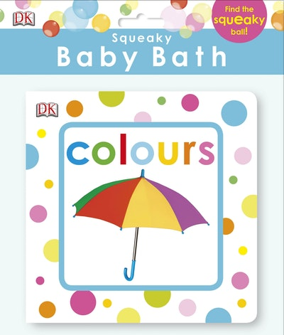 Squeaky Baby Bath Book~ Colours