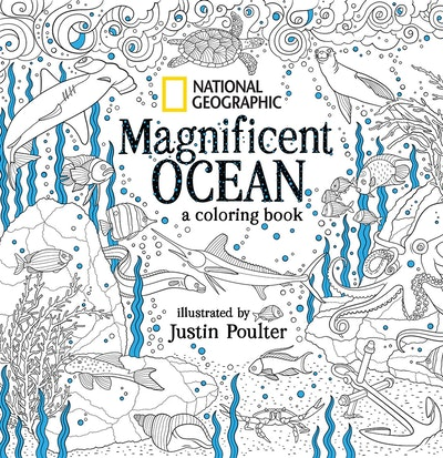 National Geographic Magnificent Ocean An Adult Coloring Book