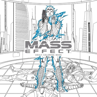 Hi Res Cover Mass Effect Adult Coloring Book