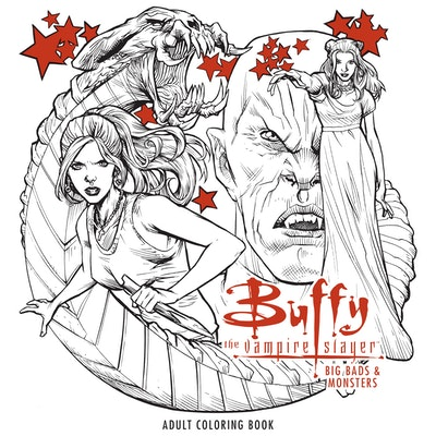 Hi Res Cover Buffy The Vampire Slayer Big Bads Monsters Adult Coloring Book