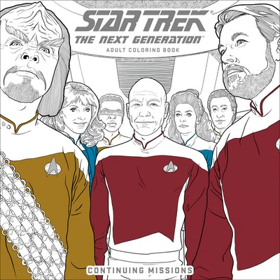 Star Trek The Next Generation Adult Coloring Book-Continuing Missions
