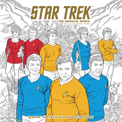 Star Trek The Original Series Adult Coloring Book - Where No Man Has Gone Before