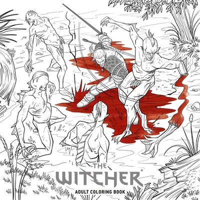 Hi Res Cover The Witcher Adult Coloring Book