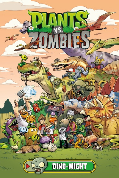Plants Vs. Zombies Volume 12 Dino-Might