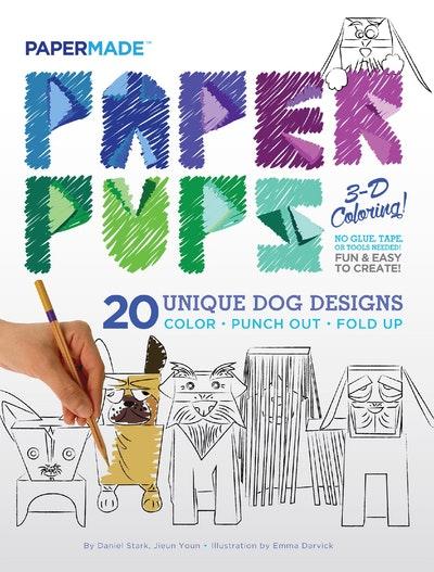 Paper Pups 3D Coloring Book