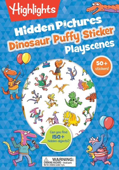 Dinosaur Hidden Pictures Puffy Sticker Playscenes