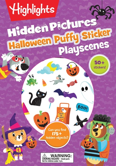 Halloween Hidden Pictures Puffy Sticker Playscenes