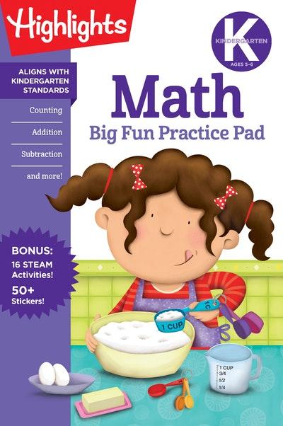 Kindergarten Math Big Fun Practice Pad