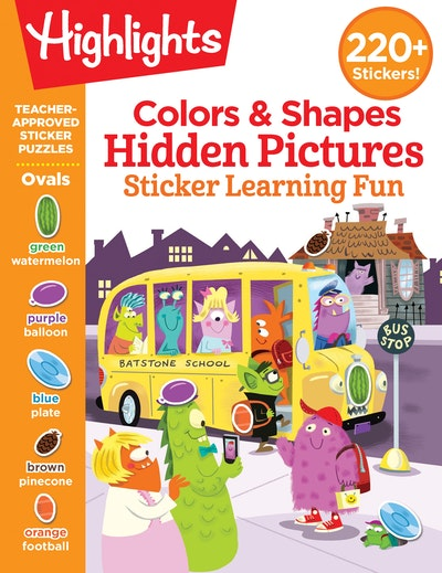 Colors & Shapes Hidden Pictures Sticker Learning Fun
