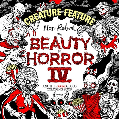 The Beauty of Horror 4 Creature Feature Coloring Book