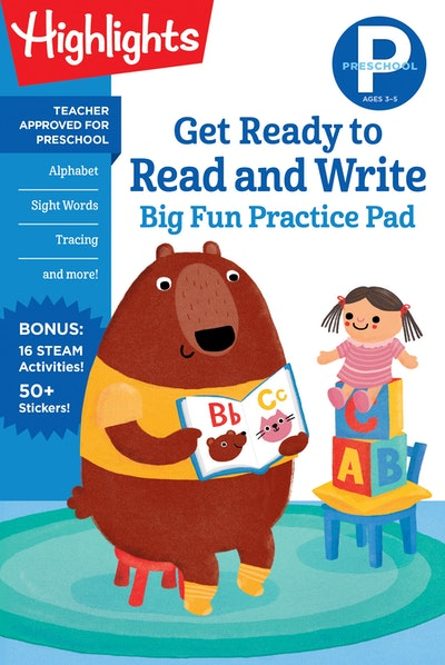 Preschool Get Ready to Read and Write Big Fun Practice Pad