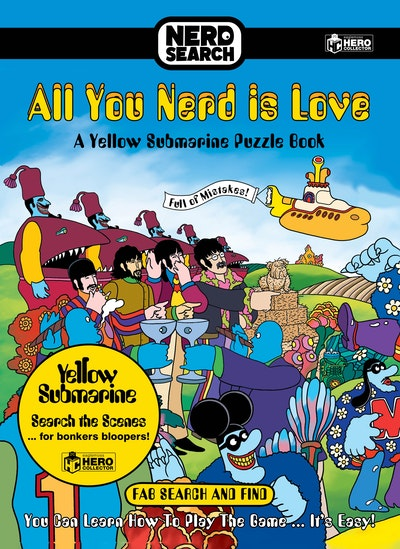 The Beatles Nerd Search: All You Nerd is Love : A Yellow Submarine Puzzle Book