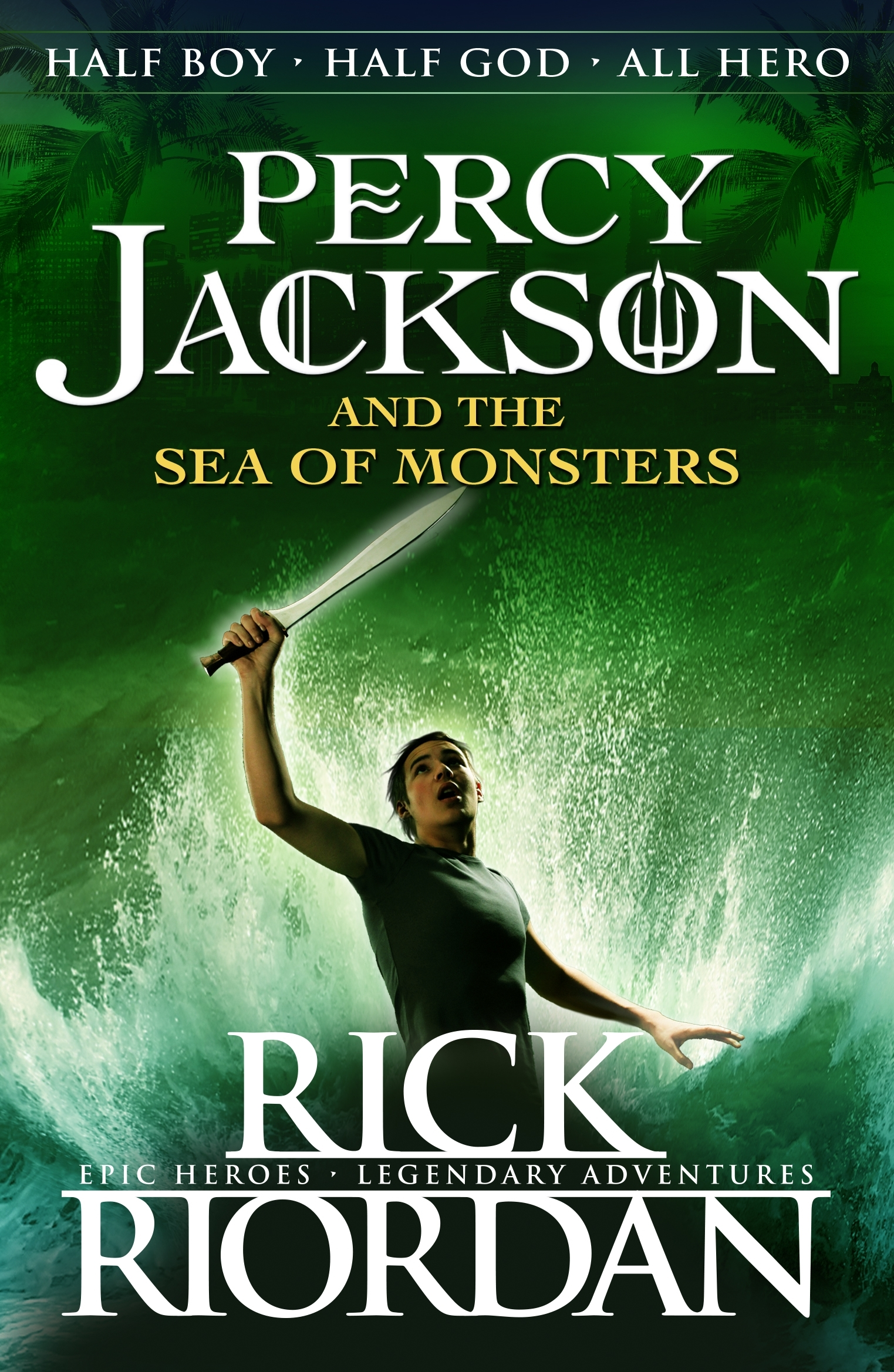 Original Penguin Book Covers : Percy jackson and the sea of monsters book by rick