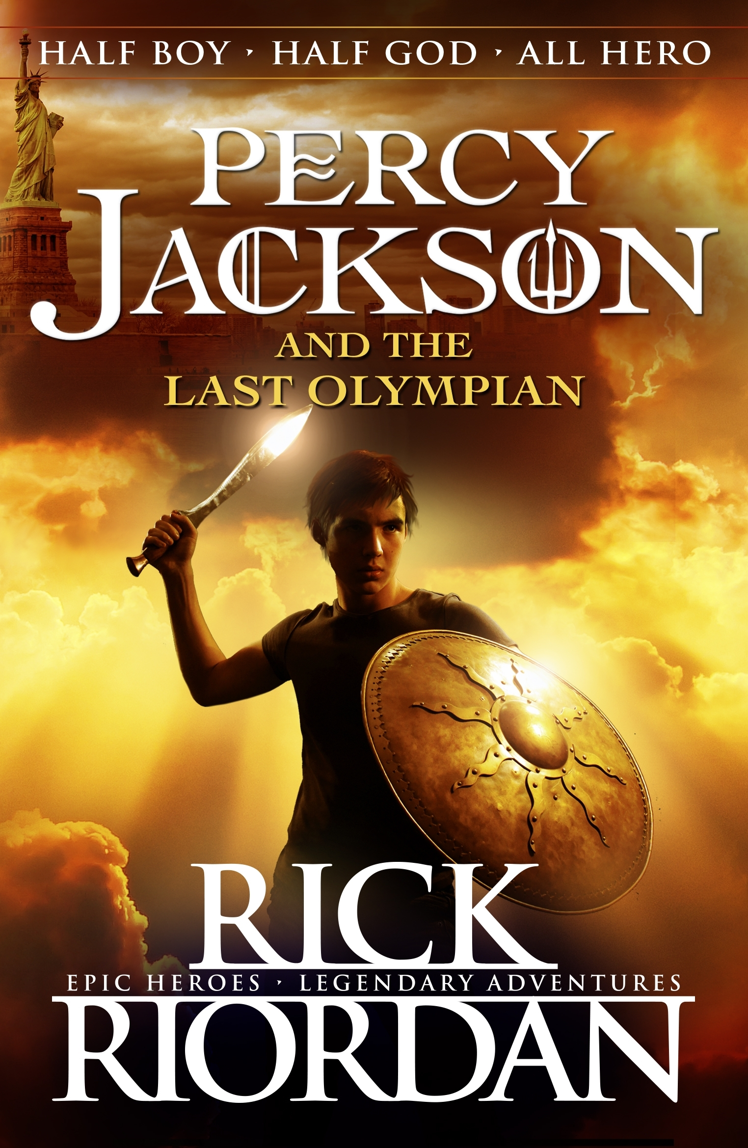 Percy Jackson Book Cover Pictures ~ Percy jackson and the last olympian book by rick