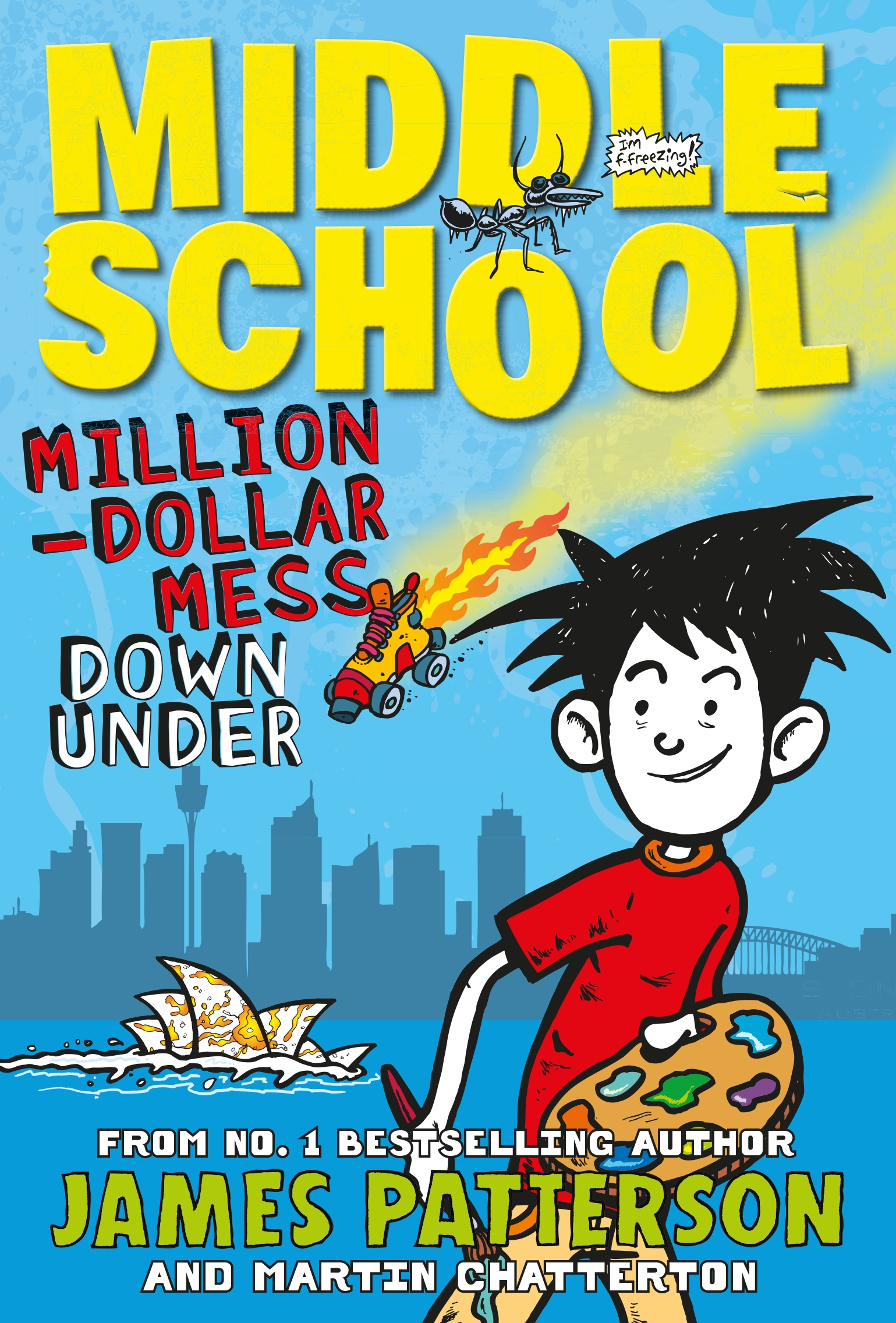 Middle School Book Cover : Middle school million dollar mess down under by james