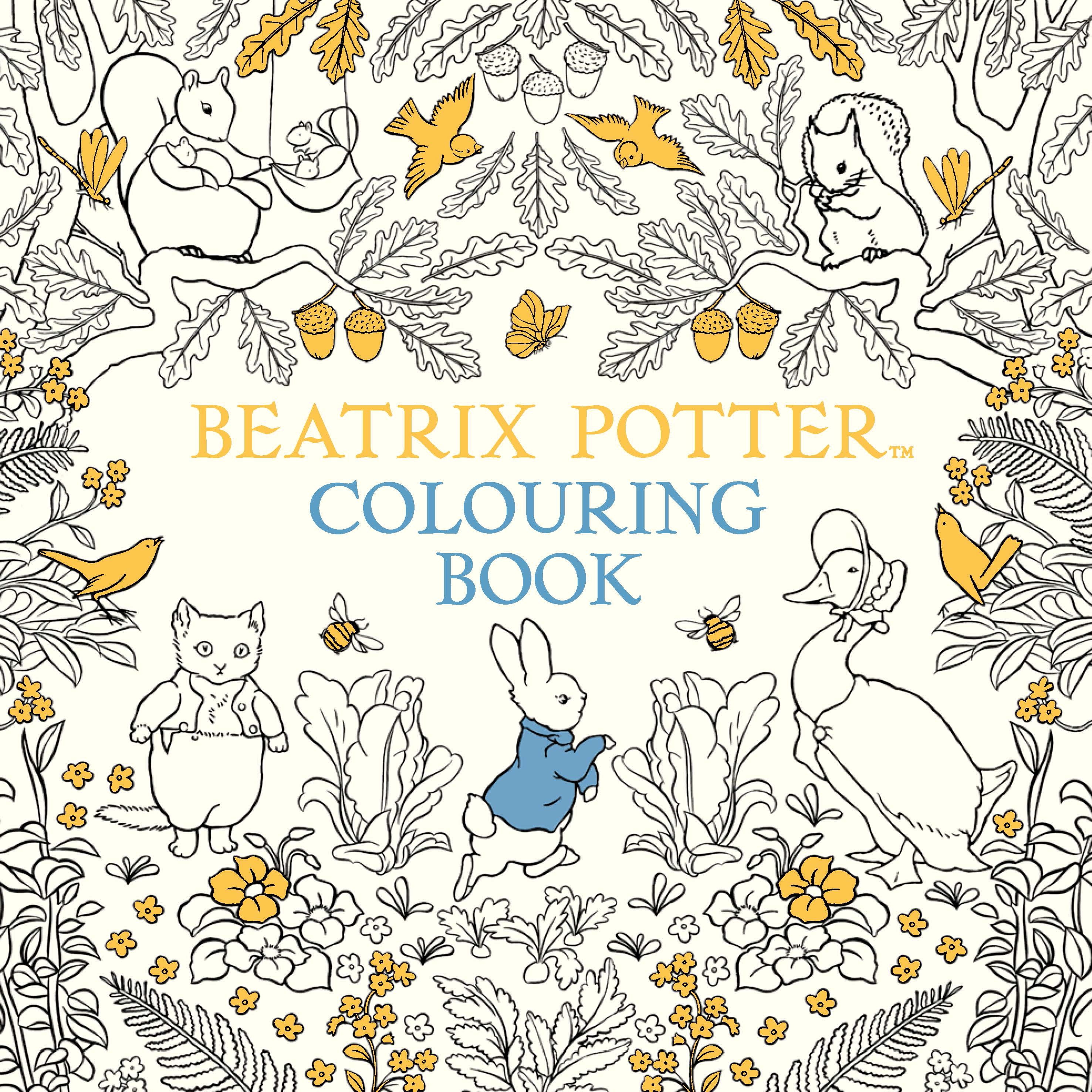 The Beatrix Potter Colouring Book By Warne Penguin Books Beatrix Potter Colouring Pages