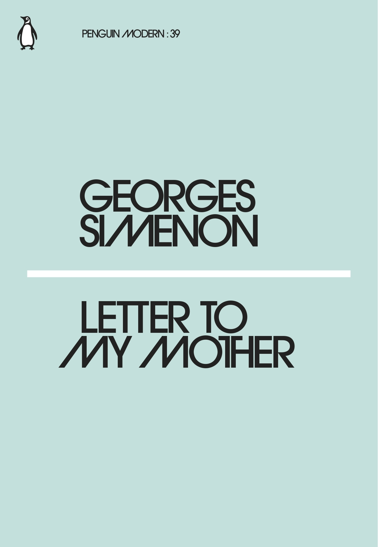 Letter to My Mother by Georges Simenon Penguin Books Australia