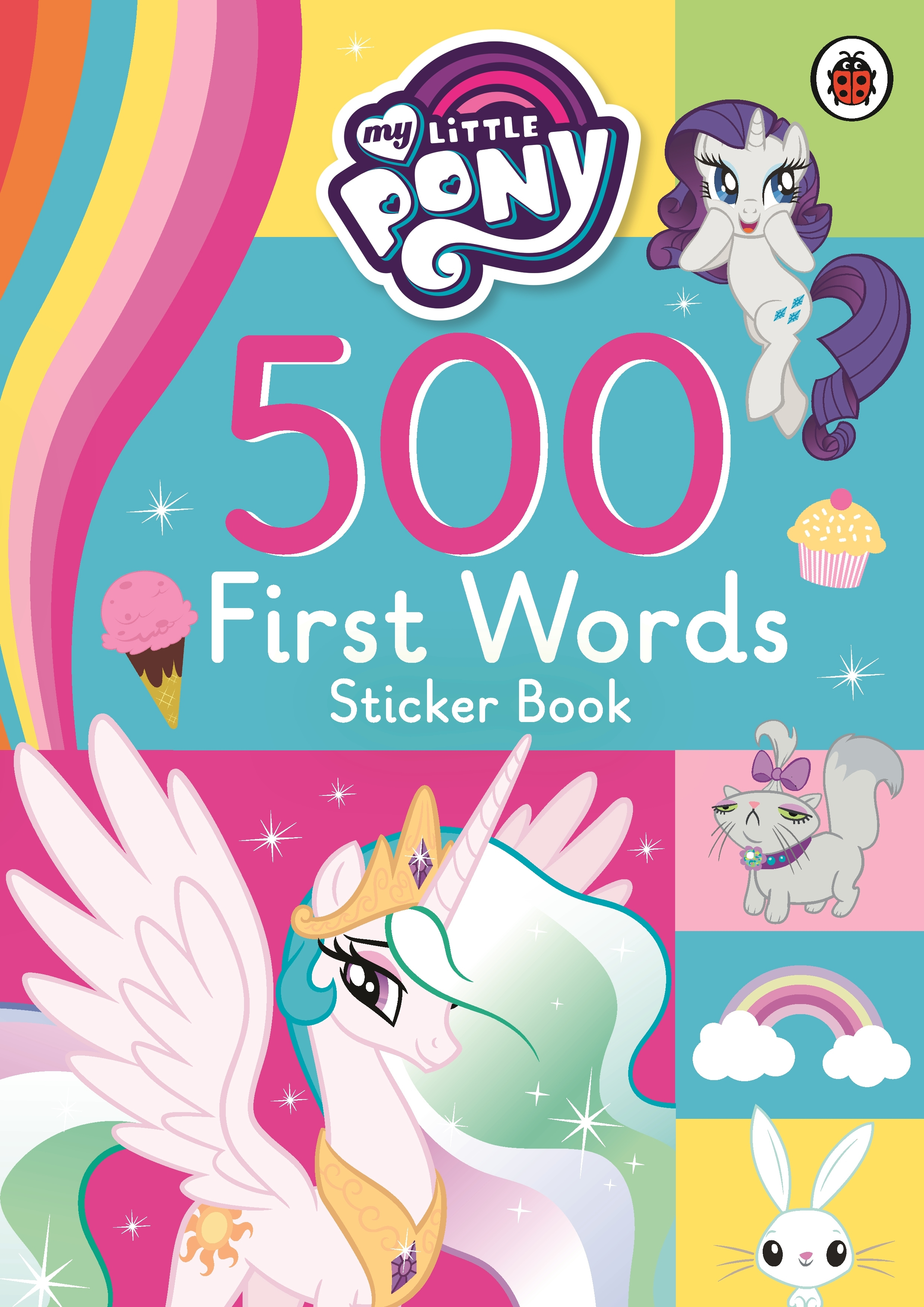 my little pony 500 first words sticker book  penguin