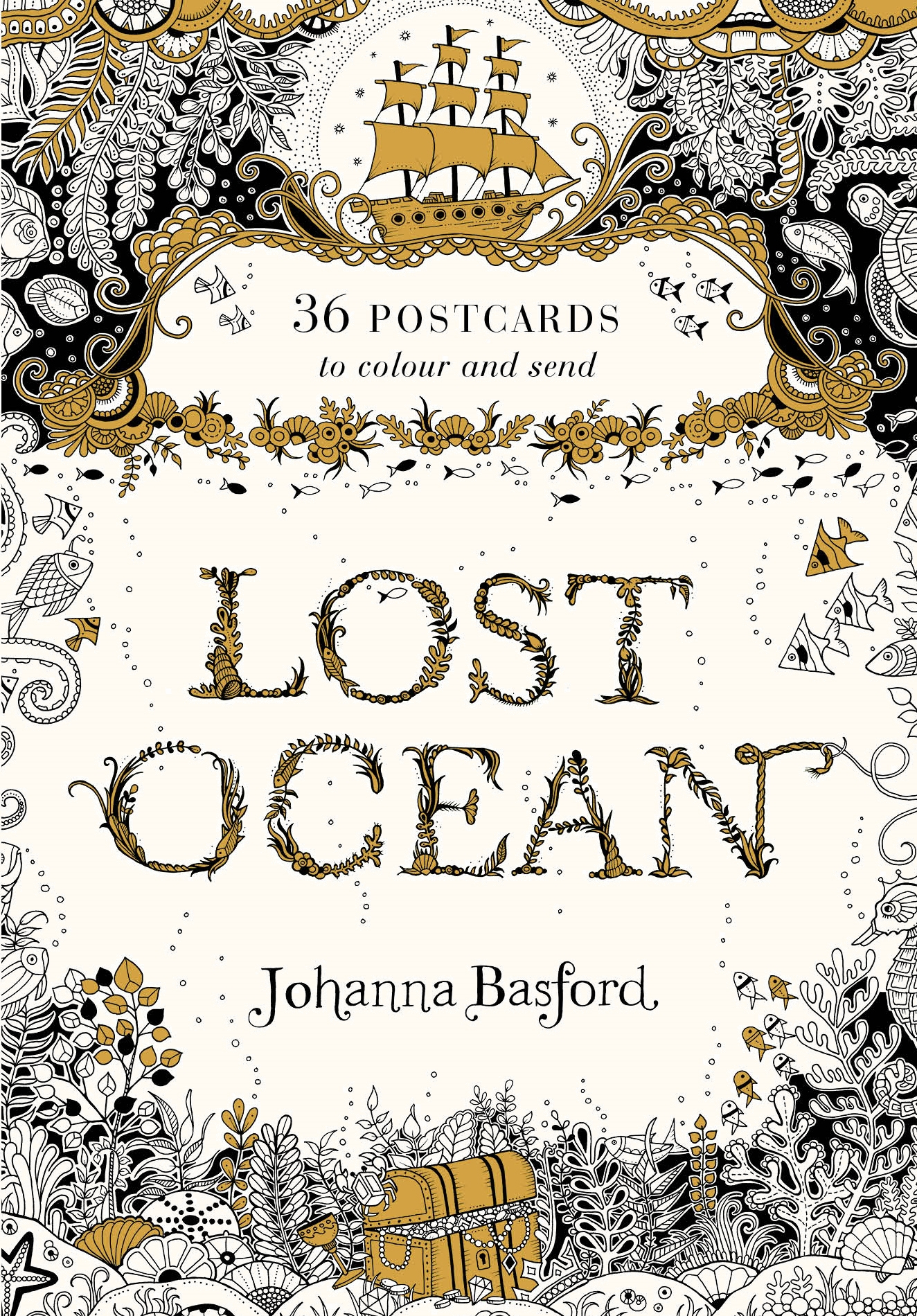 Lost Ocean Postcard Edition 36 Postcards To Colour And Send By Johanna Basford