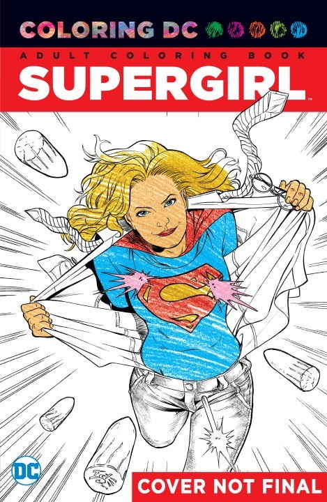 Supergirl An Adult Coloring Book