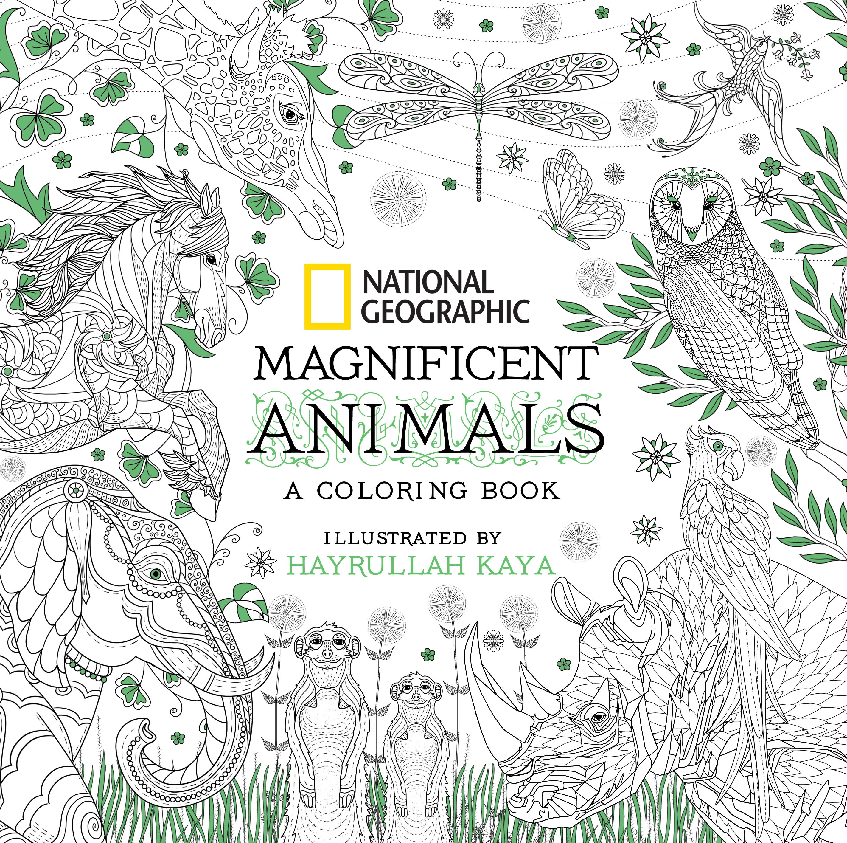 - National Geographic Magnificent Animals An Adult Coloring Book By