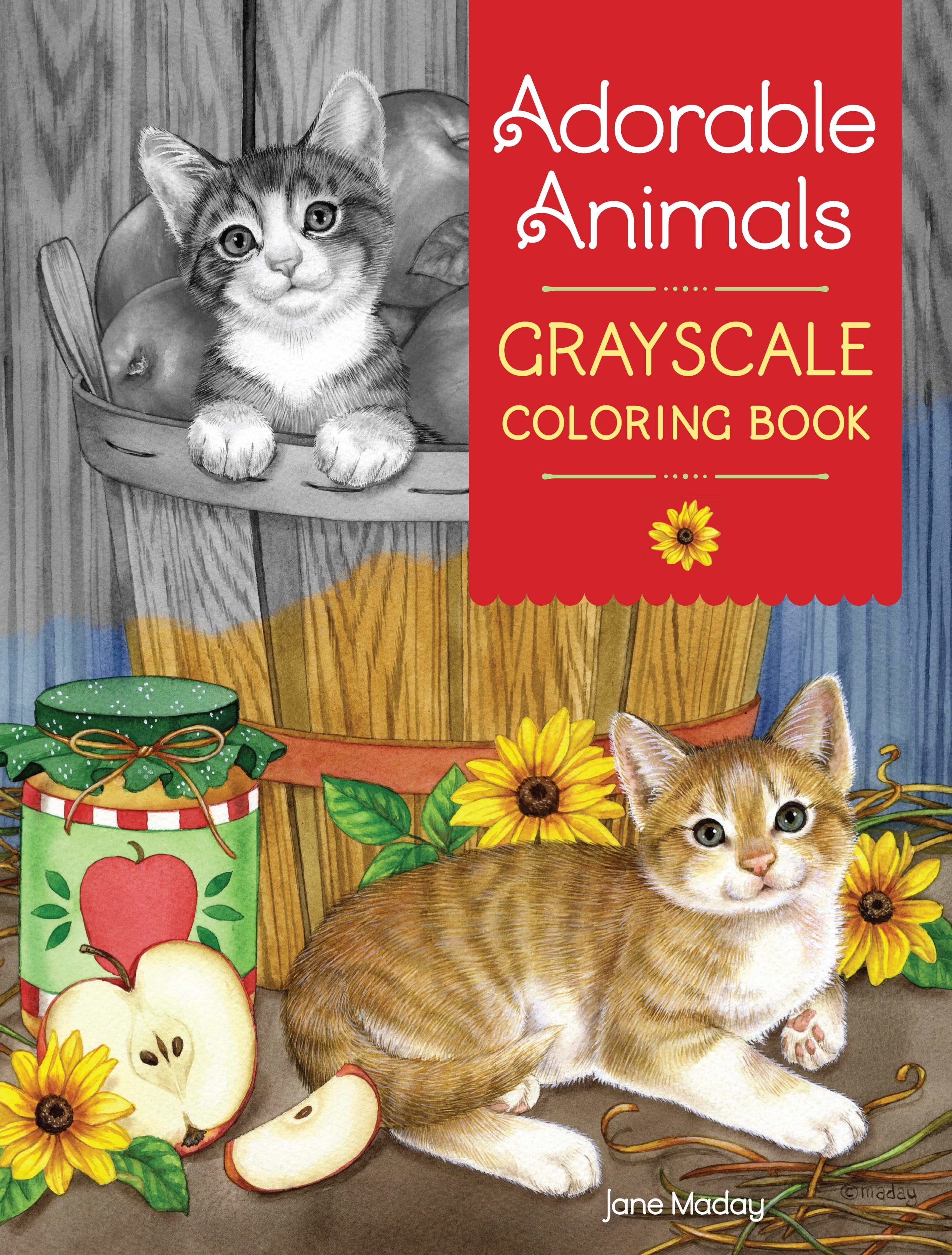 Adorable Animals Grayscale Coloring Book By Jane Maday Penguin Books Australia