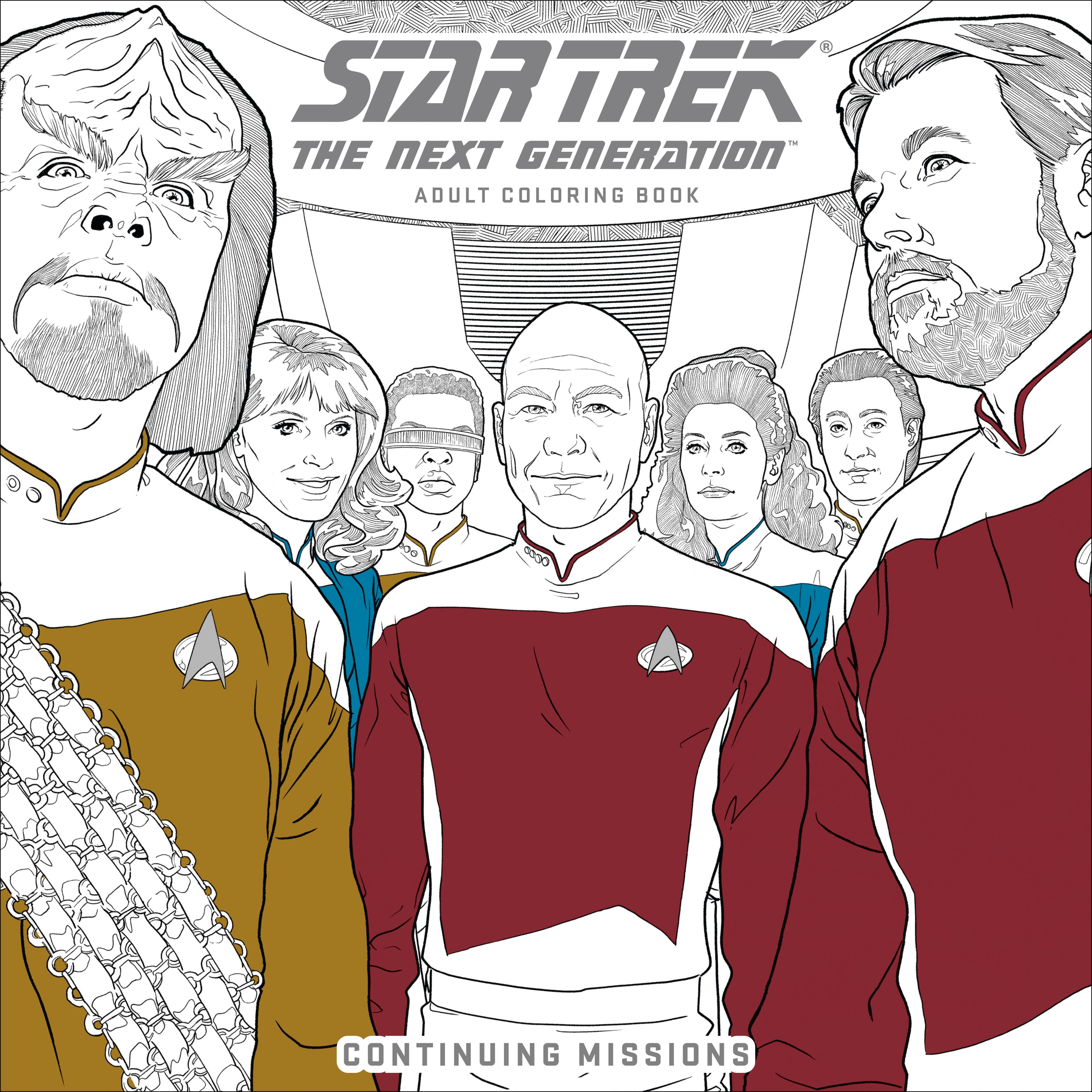 Star Trek The Next Generation Adult Coloring Book Continuing