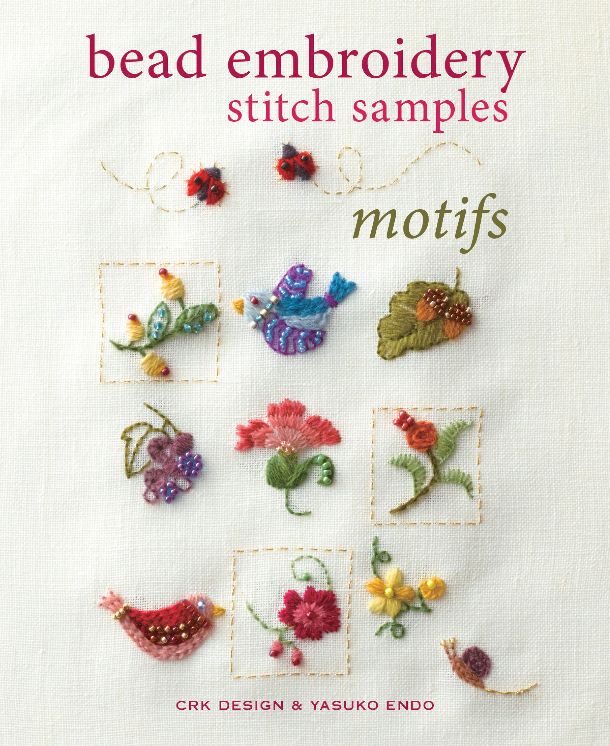 Bead Embroidery Stitch Samples Motifs By Crk Design Penguin Books New Zealand