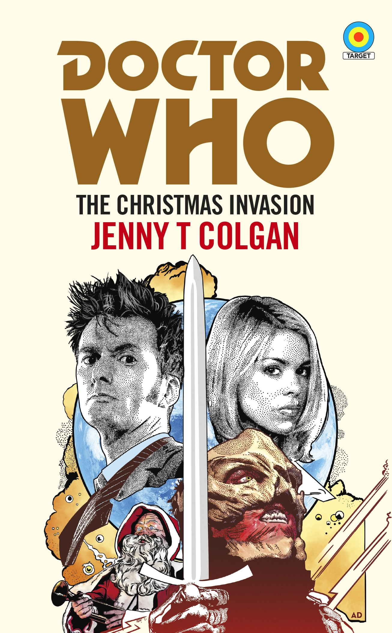 Book Covering Contact Target : Doctor who the christmas invasion target collection by