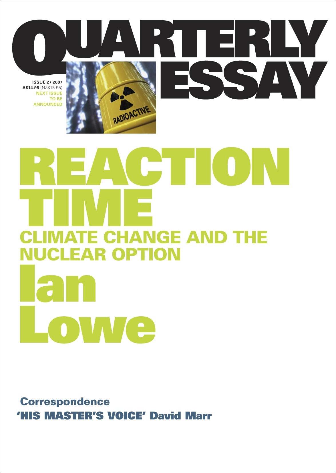 reaction paper the climate change One aspect of climate change that scientists around the world agree on is that the world is in fact warmer the warning signs are all around.