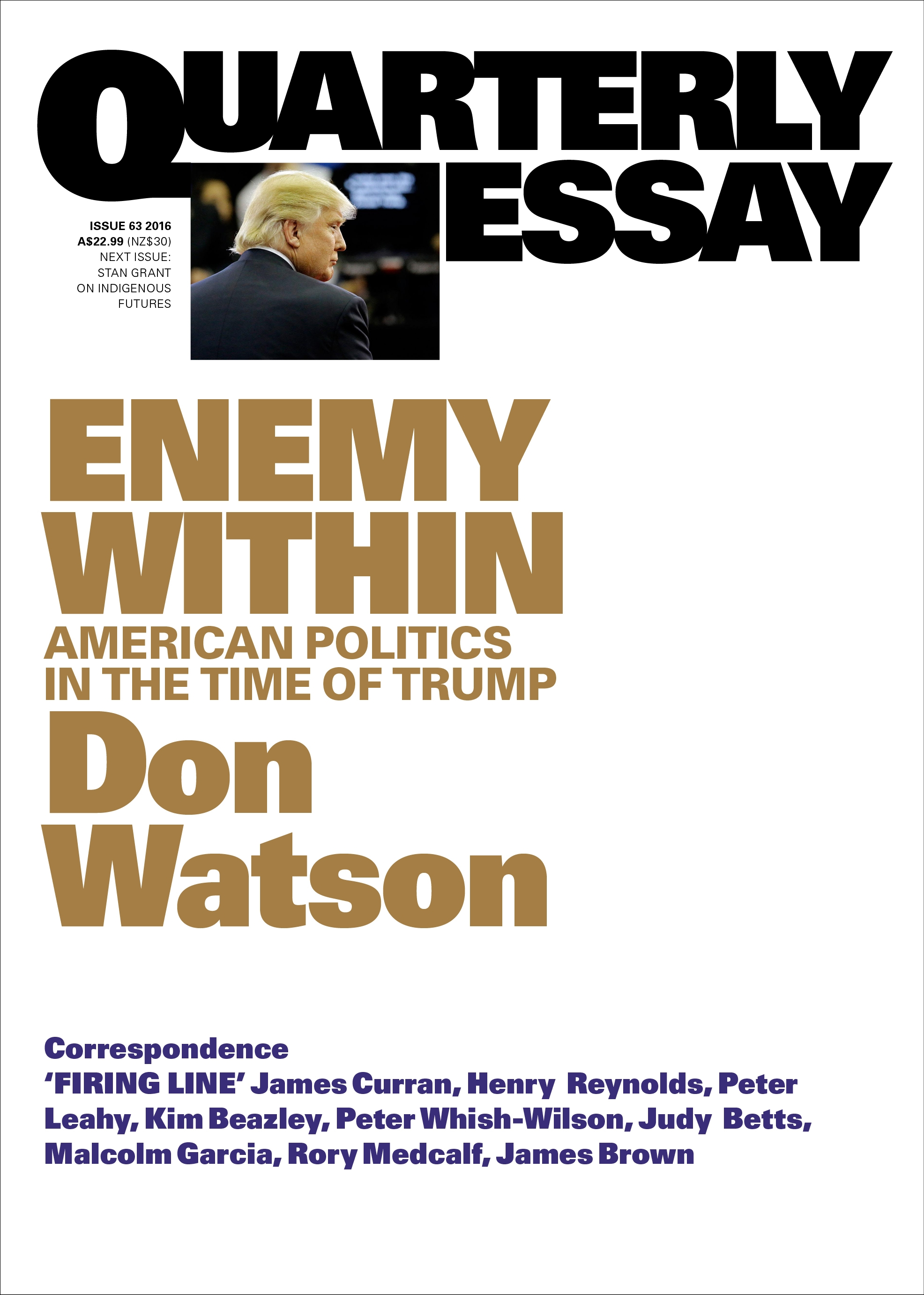 enemy in american politics in the time of trump quarterly enemy in american politics in the time of trump quarterly essay 63
