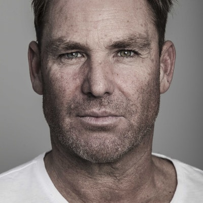 portrait photo of Shane Warne