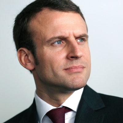 portrait photo of Emmanuel Macron