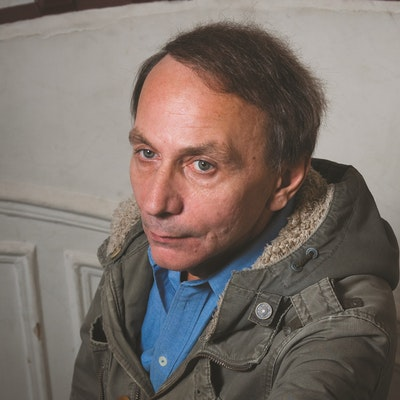 portrait photo of Michel Houellebecq