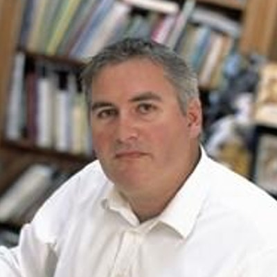 portrait photo of Chris Riddell