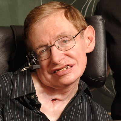 portrait photo of Stephen Hawking