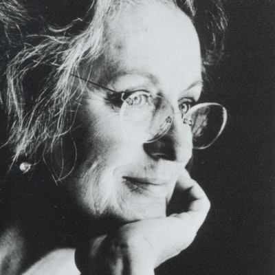 portrait photo of Germaine Greer