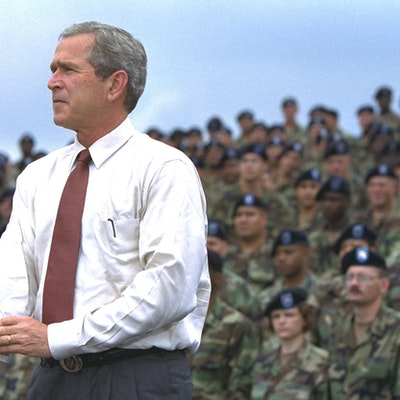 portrait photo of George W. Bush