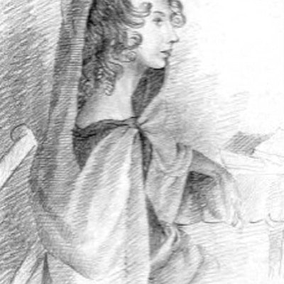 portrait photo of Anne Bronte