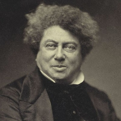 portrait photo of Alexandre Dumas
