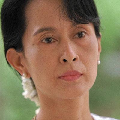 portrait photo of Aung San Suu Kyi