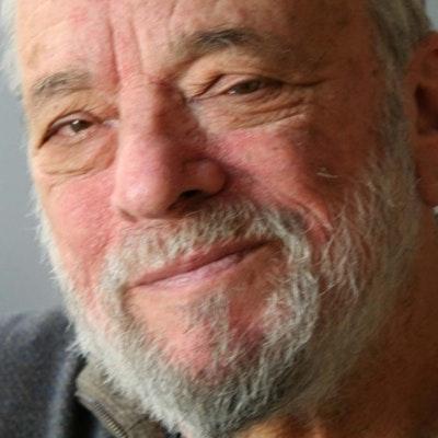 portrait photo of Stephen Sondheim