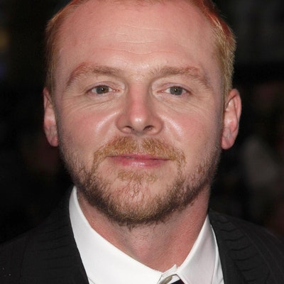portrait photo of Simon Pegg